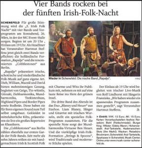 Norddeutsche Rundschau, 19.3.2016